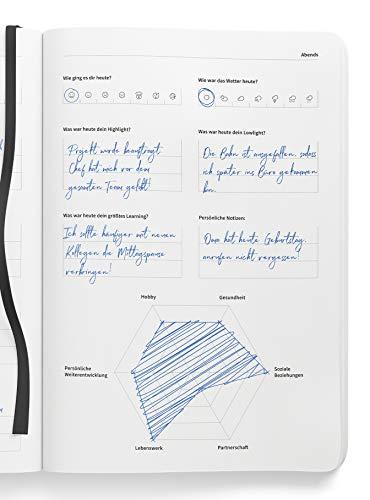 GLEICHGEWICHT - Tagesplaner & Erfolgsjournal für 100 Tage (DIN A5) - Notizbuch mit Lederumschlag in Schwarz - Tageskalender undatiert - 100% Made in Germany (Dinge Zu Tun, Journal)