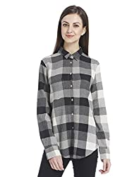 ONLY Womens Regular Fit Synthetic Shirt (1828106004_Black_40)