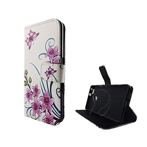 Handy Tasche Book Style Rahmen Flip Cover Case Schutz Hülle Etui Motiv Wallet, Für Handy:Apple iPhone 6 / 6s (4.7 Zoll), Motiv:MITTELFINGER Weiß