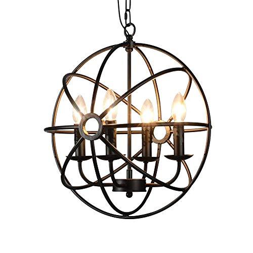 Kreative Mode (BAYCHEER 4 Flammige Industrie Hängeleuchte E14 Durchmesser 43cm Pendelleuchte Esszimmer Vintage Lampe Wohnzimmer Mode Kreative kronleuchter)