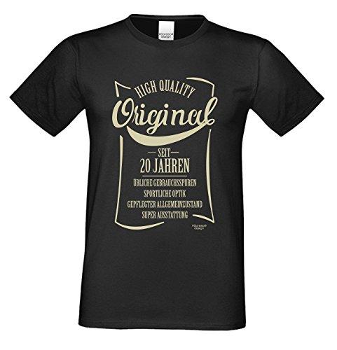 Herren-Geburtstags-Fun-T-Shirt Original seit 20 Jahren Geschenk zum 20. Geburtstag oder Weihnachts-Geschenk auch Übergrößen 3XL 4XL 5XL in vielen Farben schwarz-04