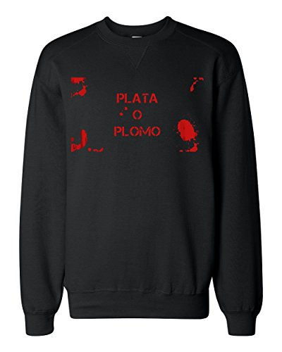 bloody-plata-o-plomo-artwork-classic-sweatshirt-large