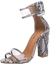 38ca56c35d Amazon.es  sandalias mujer verano 2018 - 8 - 11 cm   Zapatos para ...