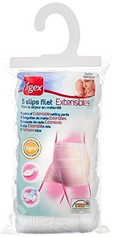 Tigex - 5 Slips Filet Extensibles pour Femmes Blancs - Taille Unique
