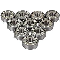 Cnbtr argento acciaio sigillato 607ZZ gola profonda roller cuscinetti a sfera 7x 19x 6mm, confezione da 10