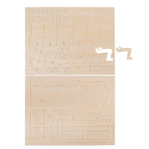 dailymall Rennrad Stift Container DIY 3D Puzzle Holzmodellbau Kit Spielzeug Puzzle Geschenk