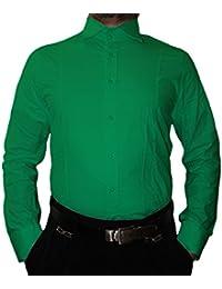 Pierre Martin Designer Herren Hemd klassischer Kragen New Kent 2 Knopf  Herrenhemd Slim Fit tailliert Langarm 84c9c22891