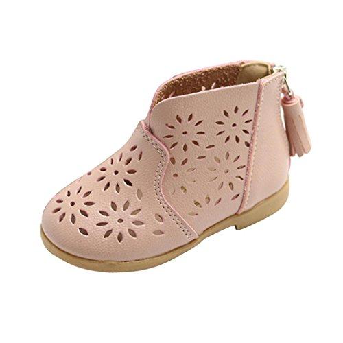 FNKDOR Mädchen Sommer Schuhe Baby Boots Kinder Sandalen Stiefel(29 EU(30CN) 18CM,Pink)