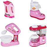 Happy GiftMart Battery Operated Pink Household Home Appliances Kitchen Play Sets Toys For Girls