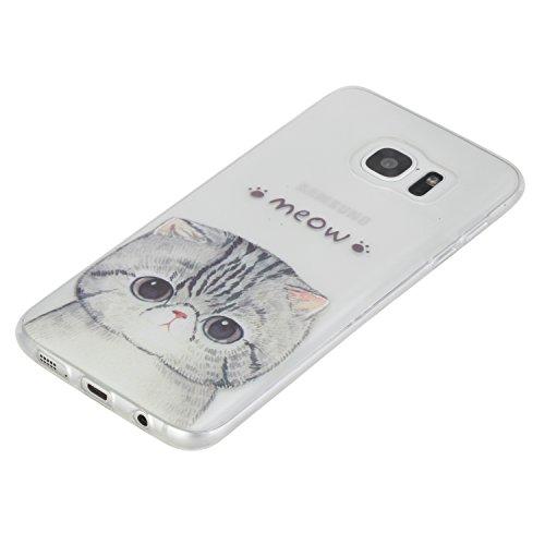Qiaogle Telefon Case - Weiche TPU Case Silikon Schutzhülle Cover für Apple iPhone 5 / 5G / 5S / 5SE (4.0 Zoll) - HX51 / Ostrich + Flower HX19 / Meow Meow