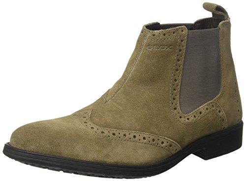Geox Herren U Jaylon B Chelsea Boots, Beige (Dove Grey), 44 EU (Wildleder Leder Boot)