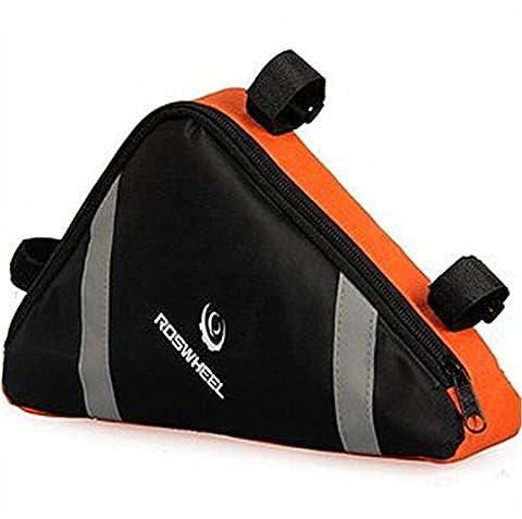 West Biking Frame Mini Bag for Storage Accessories Tools Triangular Shape Conveniently Fits Most Road (Borsa Telaio)