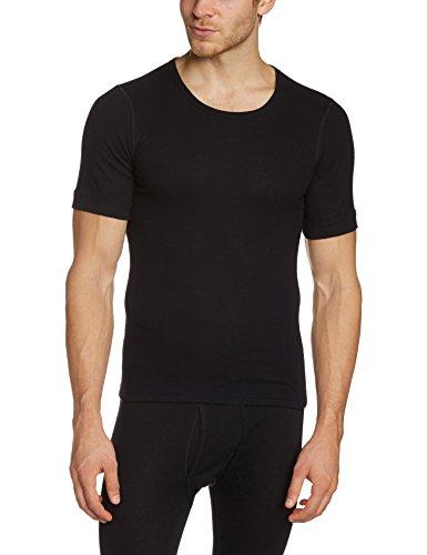Susa Herren Thermounterwäsche - Oberteile Angora Unterhemd s8010070, Einfarbig, Gr. Large, schwarz (schwarz s750)
