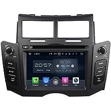 2 Din 6.2 pulgadas Coche Estéreo con GPS Navegación Android 6.0 OS para Toyota Yaris 2005 2006 2007 2008 2009 2011,Pantalla Táctil Capacitiva con 8 Core 1.5G CPU 2G DDR3 RAM 32G Flash 800x480 Radio DVD 3G/WIFI OBD2 Aux Entrada USB/SD DVR