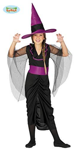 Guirca Elegantes Kinder Hexen Kostüm Gr. 110-146, Größe:128/134