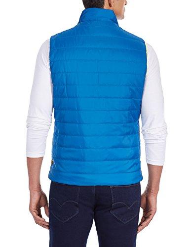 Flying Machine Men's Polyster Jacket (FMJK0410_Cobalt_XL)