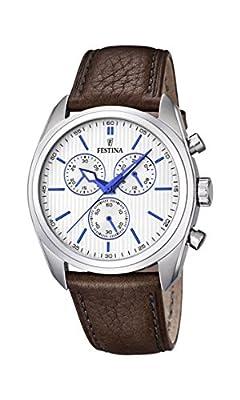 University Sports Press F16779/2 - Reloj de cuarzo para hombre, con correa de cuero, color marrón de University Sports Press