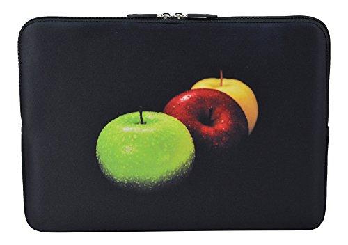 MySleeveDesign Laptoptasche Notebooktasche Sleeve für 10,2 Zoll / 11,6-12,1 Zoll / 13,3 Zoll / 14 Zoll / 15,6 Zoll / 17,3 Zoll - Neopren Schutzhülle mit VERSCH. Designs - Colored Apple [14]