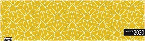 times&more Muster gelb Wochenquerplaner 2020 32,5x9,3cm