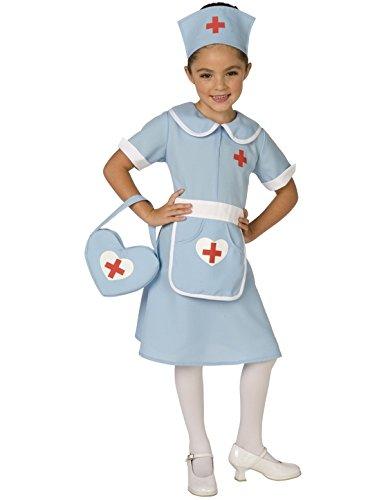 Krankenschwester Kind Kostüm (Krankenschwester Schwester Kinder Kostüm Karneval Fasching)