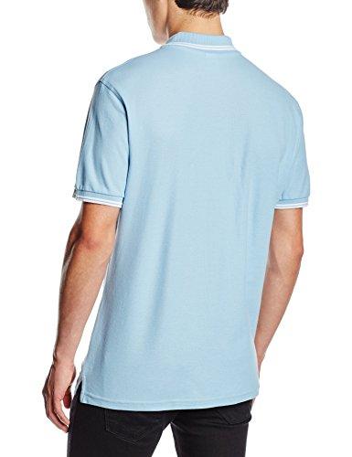 Fruit of the Loom Herren Poloshirt Sky Blue/White