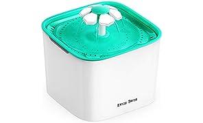 Katze-Tatze Bebedero Automático para Gatos Perros, Fuente de Agua portátil para tu Mascota Bomba silenciosa de 2L 3 Modos de Uso, Filtro de Carbón y 1 Filtro de Repuesto