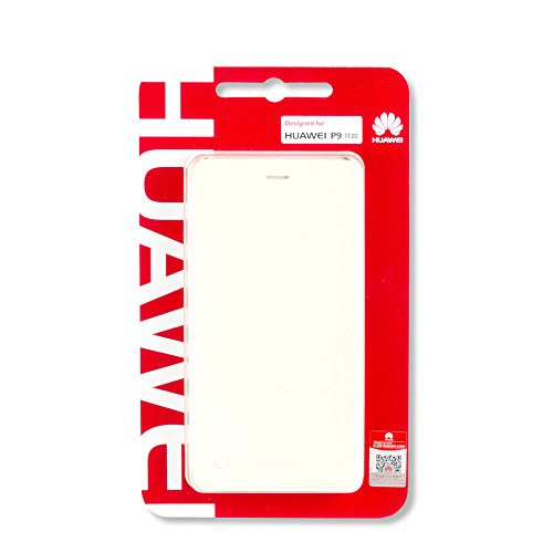 Huawei P9 Lite Flip Cover - Funda pficial P9 Lite, Blanco