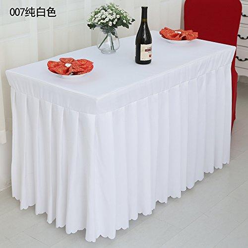 (Büro Tischdecke, Table Rock, Hotel Custom Meeting, Tischdecke, Tabelle Kleid zeigen, bunten Tuch, Weiss, 50*100*75 Cm)