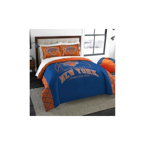 Northwest NBA New York Knicks Reverse Slam Zwei Sham Set, blau, full/Queen Size (Sham-bettwäsche-set)