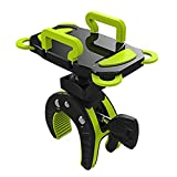 AIU Fahrrad Handyhalterung Universal Motorrad/Fahrrad / MTB Fahrrad Lenker Handyhalter für die Meisten Smartphones und GPS (grün)