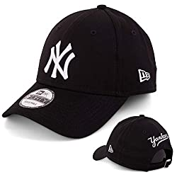 New Era Baseball Cap Basecap Herren Limited Edition mit Extra Team Stickerei auf Rückseite Kappe Schirmmütze Mütze 9 Forty Snapback NY Yankees Black