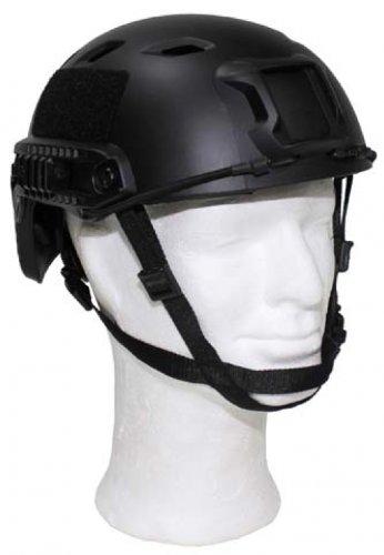 Max Fuchs US Helm, FAST-Fallschirmjäger, schwarz, Rails, ABS-Kunststoff des Herstellers MFH int. Comp.