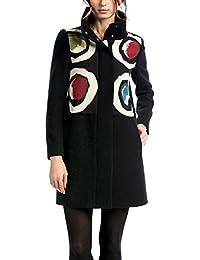 Desigual Abrig_eco-negro - Chaquetón escudo Mujer