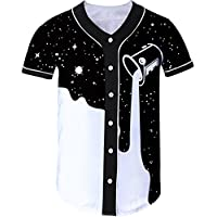 Loveternal Unisex 3D Printed Baseball Jerseys Hipster Casual Manga Corta