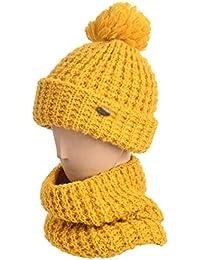 LI-MING-HAT Cappello in Lana Spessa con Berretto di Lana Femminile Carino  Copricapo c94238892e9b