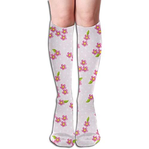Blossom Socken (Cherrie Blossom Pink Komfortable Erwachsenen Kniestrümpfe Gym Outdoor Socken 50cm 19.7inch)