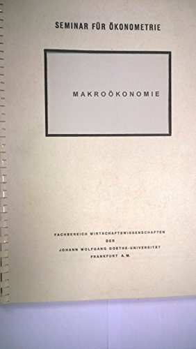 Script Vorlesungsscript Scriptum Gerhard Gehrig Macroökonomie 1994 Uni Frankfurt a. M.