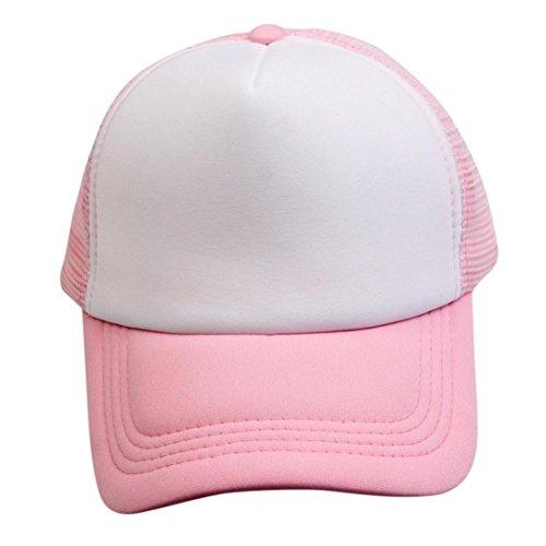 UFACE Männer und Frauen Neutral Kontrast Farbe Caps Baseball Cap Hip Hop Cap (Rosa)
