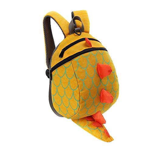 Dorical Schulrucksack für Kinder Kleinkinder 3D Dinosaur Muster Studenten Rucksack Schultasche, Daypack Reise Backpack für Schüler Outdoor Freizeit, für Junge und Mädchen 3-10 Jahre(Gelb)