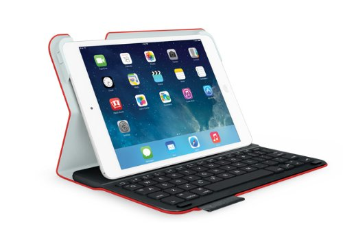 Logitech 920-006141 Ultrathin Keyboard Folio for iPad mini y mini 2 Mars Red