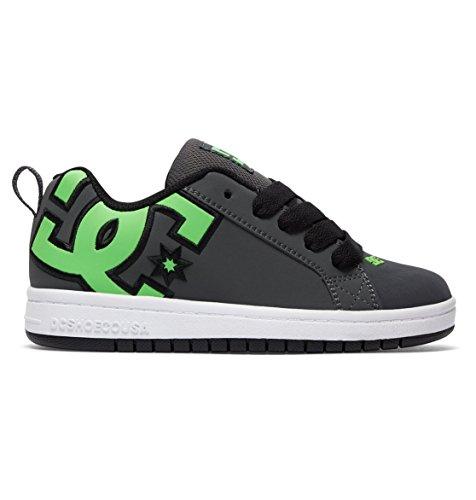 Dc-jungen Skate Schuhe (DC Shoes Jungen Court Graffik SE Sneaker, Grün (Green/Grey/White-Combo), 34 EU)