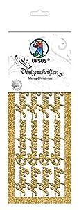 Ursus 57540003Diseño schriften Merry Christmas, 2Arco, Oro