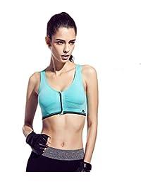 Encounter Sexy Soutien-gorge de Sport Push up Zip Devant Antichoc Bra Sans Armature pour Fitness Yoga Course