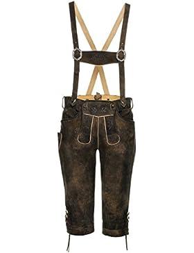 Michaelax-Fashion-Trade Spieth & Wensky - Herren Trachten Lederhose mit Stegträgern, Farold (290697-0413)