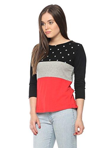 Vvoguish Women's Cotton Top (VVPNTTP1135BLKGMRD_XL_Multi-Coloured_X-Large)