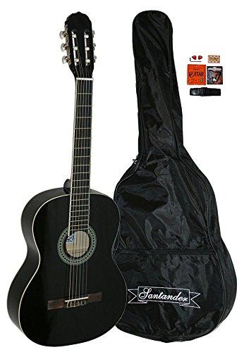santander-4-4-akustik-konzert-gitarre-set-mit-tasche-kapodaster-gurt-schwarz