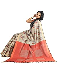 Sakhi Womens Blended Tussar Saree_IMR-1757_Multi-coloured_Free Size