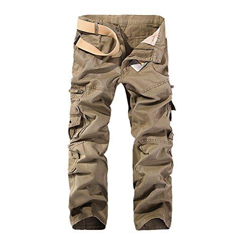 AYG Pantalon Cargo Hombre Mens Cargo PantsKhaki