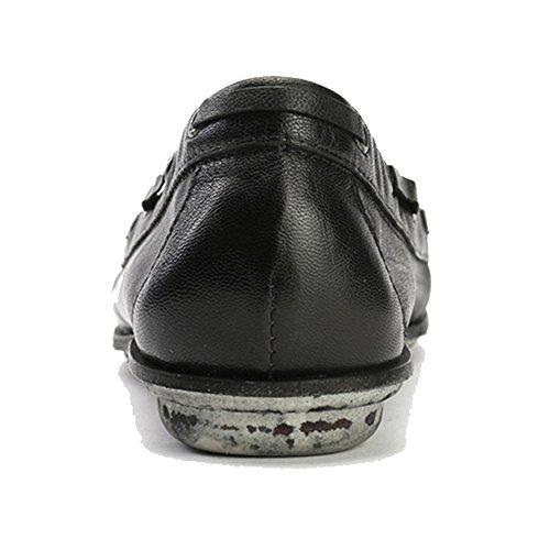 Alexis Leroy Printemps été Chaussures Mocassins en Cuir femme Noir