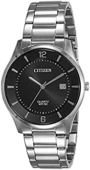 Citizen Mens Quartz Watch, Analog Display and Stainless Steel Strap BD0041-89E